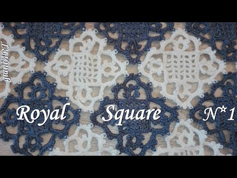 Crochet Lace Square Motif /Royal Square/VERY EASY #1
