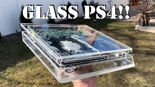 Glass Playstation 4!! Custom Hand Built!