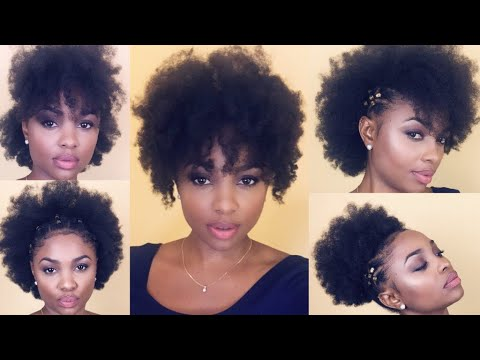 9 quick & easy natural hairstyles