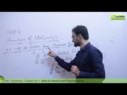 Matric Part 1 Chemistry, Why Do Atoms From Chemical Bond - Ch 4  - 9th Class Chemistry