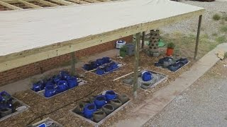 Foxhole Homes Builds Impressive Hybrid Rain Gutter Grow System For Local Food Bank!