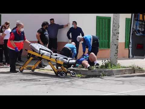 Un motorista herido tras sufrir un accidente en Son Ferriol