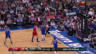 Robin Lopez and Serge Ibaka Exchange Punches!
