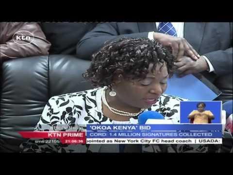 Okoa Kenya initiative presents 1.5 million signatures to the IEBC