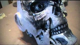 Making a Terminator T-800 (CSM T-101) Endoskull