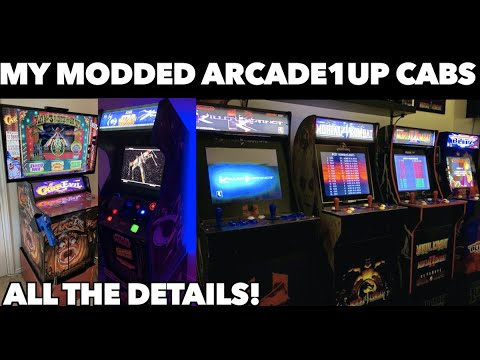 Details on ALL of my Arcade1Up Mods! | CarnEvil, Killer Instinct, Mortal Kombat, Blitz & Star Wars from Killer Arcade Games