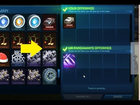Rocket league trade more search options