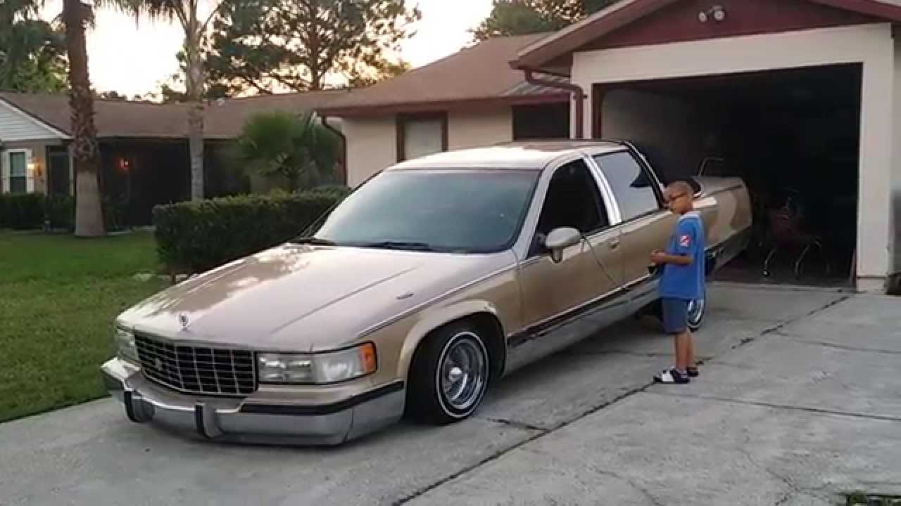 1995 Cadillac Deville >> My Son hitting switches on our lowrider Cadillac Fleetwood ...