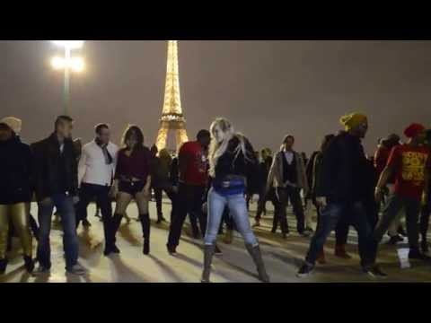 Kizomba in Paris outside @ Trocadero with Albir & Sara