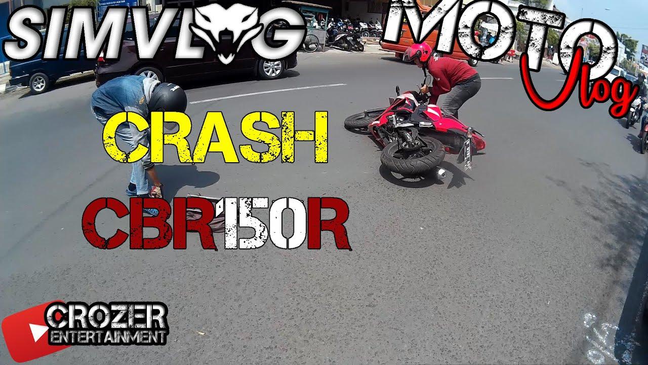 11 Crash Cbr150r Kecelakaan Shock Youtube All New Cbr 150r Racing Red Kota Semarang