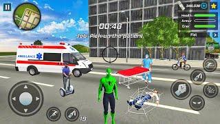Spider Rope Hero Ninja Gangster Crime Vegas City # 16-Android 게임 플레이