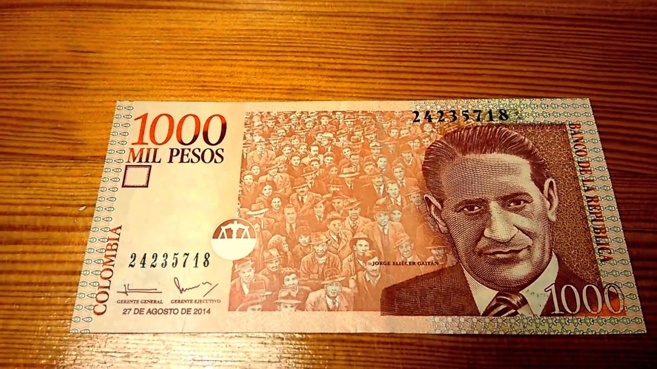 1000 Pesos Colombia Banknote Billete Nota Banconota