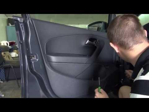 Разборка двери на Volkswagen Polo V 2013 Door Removal