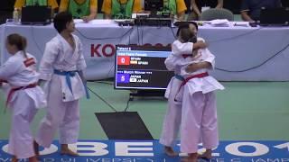 第11回世界大学空手道選手権大会で、日本の女子団体形がクルルンファ...