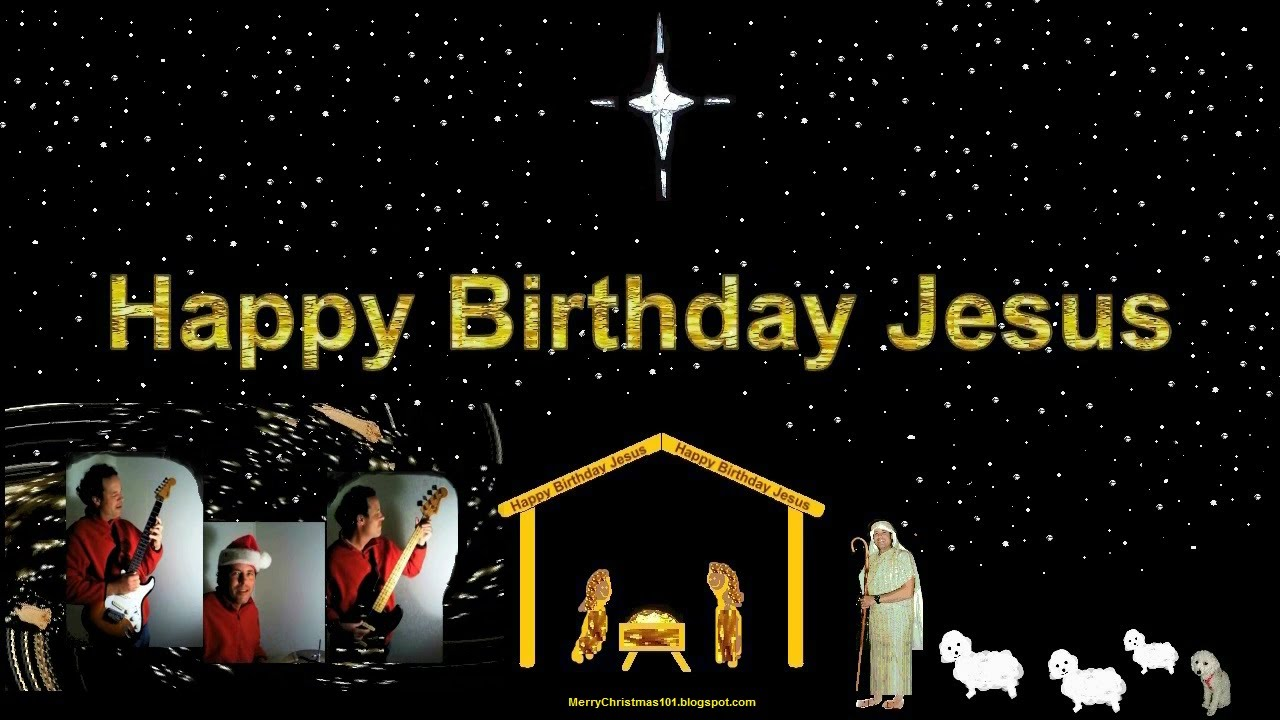 Happy Birthday Jesus Manger Scene Peace On Earth