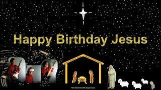 Happy Birthday Jesus - Manger Scene - Peace On Earth .. And .. (funny Christmas Rock Comedy)