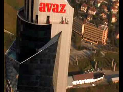 Cedric Dumont BASE jump from Avaz Twist Tower