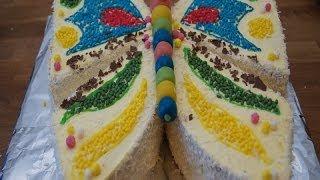 Tort Motylek. Jak zrobić tort w kształcie motylka.
