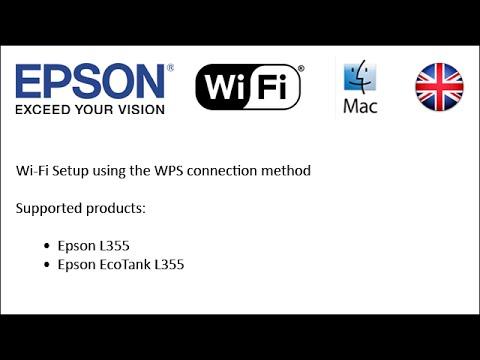 How To Setup The Epson L355 Using Wps Wifi Setup Youtube