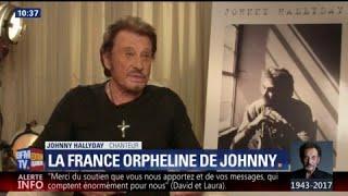 Quand Johnny Hallyday se confiait sur ses enfants sur BFMTV