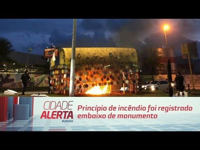Princípio de incêndio foi registrado embaixo do monumento ''Bumba-meu-boi da Pajuçara''