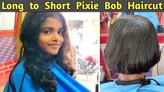 Short Haircut /Pixie Haircut /Bob Haircut/Extreme Long to Short Hair Cutting /Rohit Haircut Tutorial