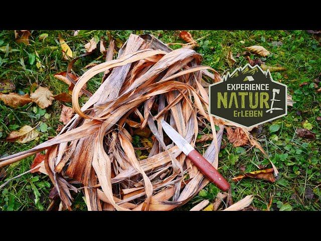 Lindenbast herstellen –  Naturschnur Multifunktiosschnur der Natur Seil  Bast  Steinzeitschnur