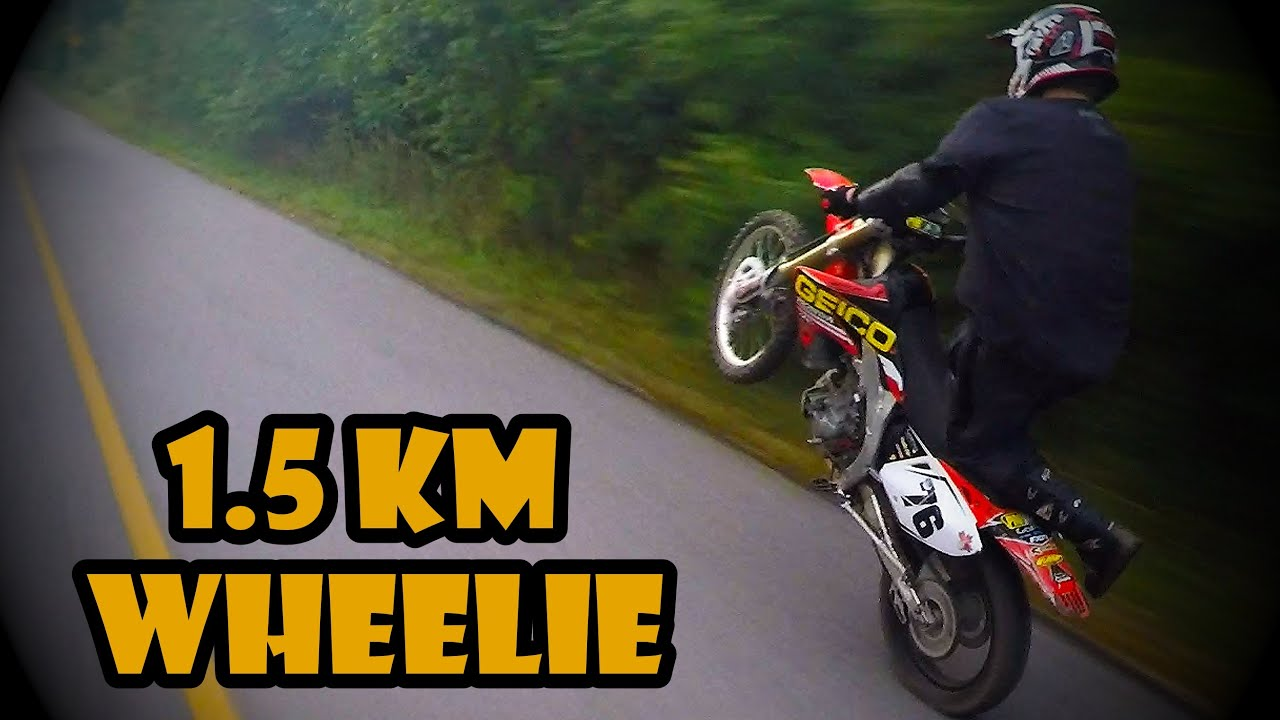 1 5km knee knocker wheelie youtube