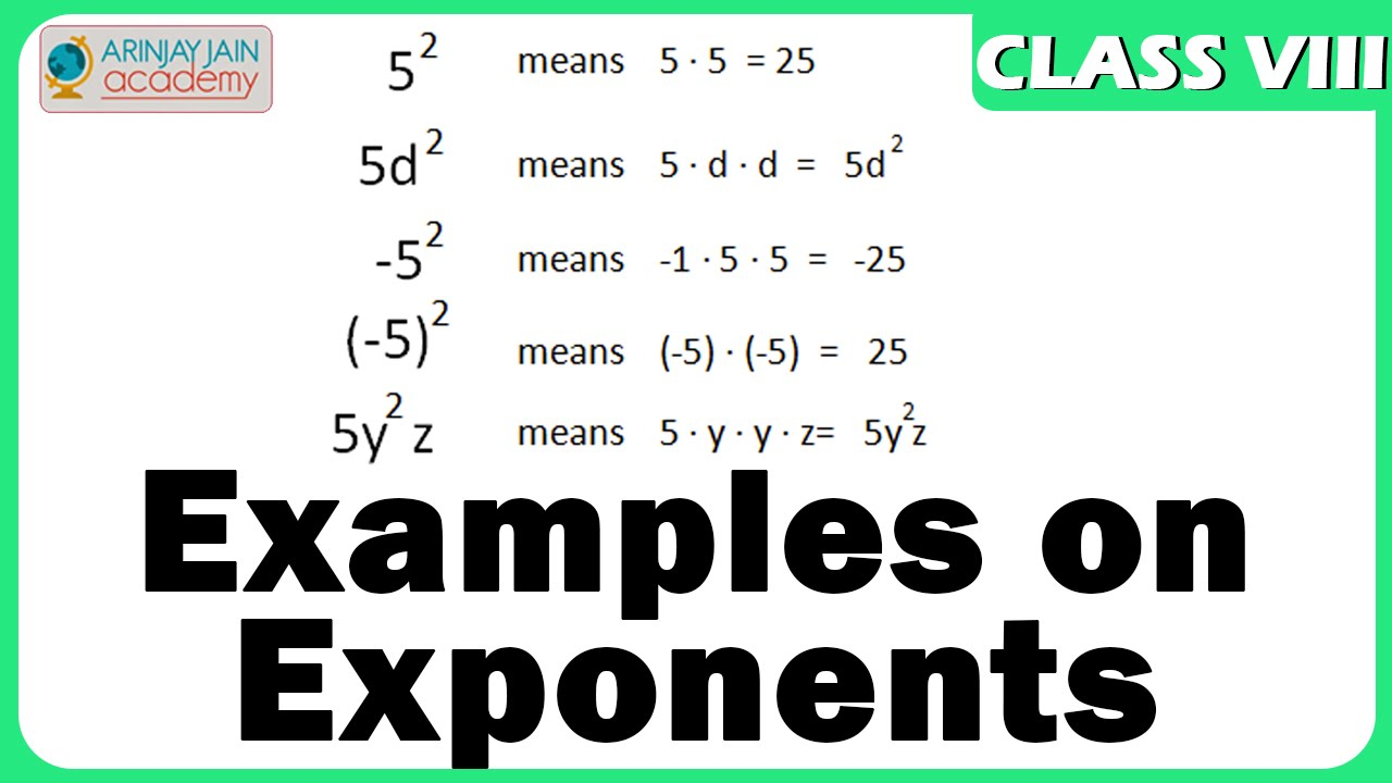 More examples on exponents exponents maths class 8viii isce more examples on exponents exponents maths class 8viii iscecbse falaconquin