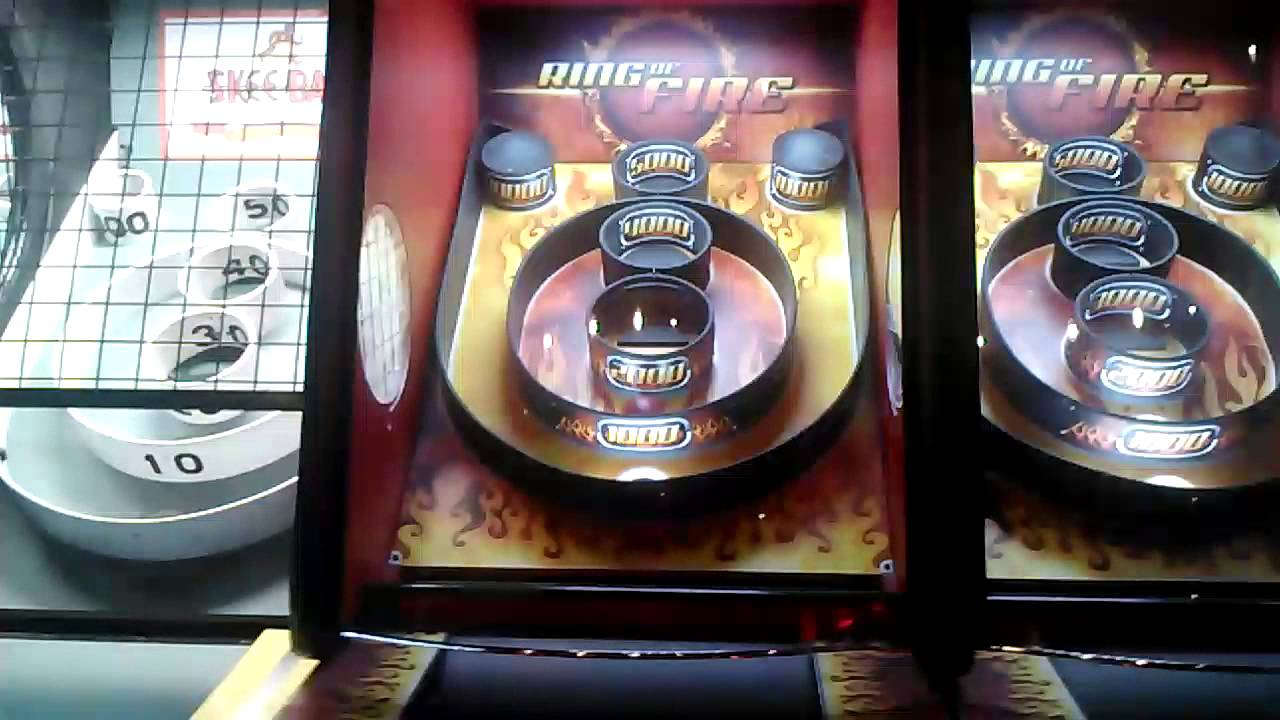 Playing Ring Of Fire Skeeball Dave And Busters Youtube