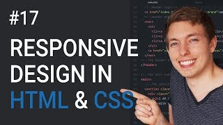 17: How to Make a Website Responsive | Learn HTML and CSS | HTML Tutorial | Basics of CSS