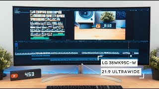 THE BEST Ultrawide Monitor? LG 38WK95C HDR USB-C 21:9 Monitor Unboxing and Review [4K]