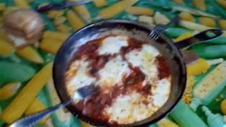 Шакшука (яичница с помидорами).консервация овощей на зиму.влог # 4