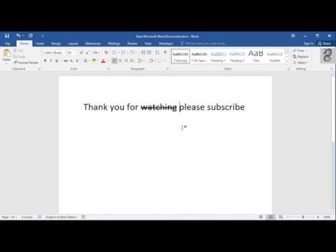 How To Add Strikethrough And Double Strikethrough Text In Word
