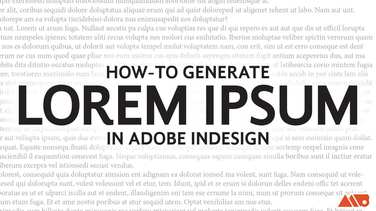 How to Add Lorem Ipsum Text in Adobe InDesign Tutorial
