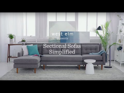 Sectional Sofas Simplified West Elm Youtube