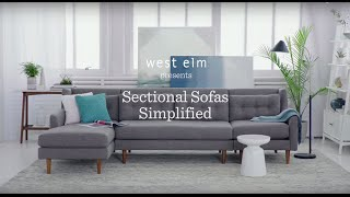 sectional sofas simplified   west elm