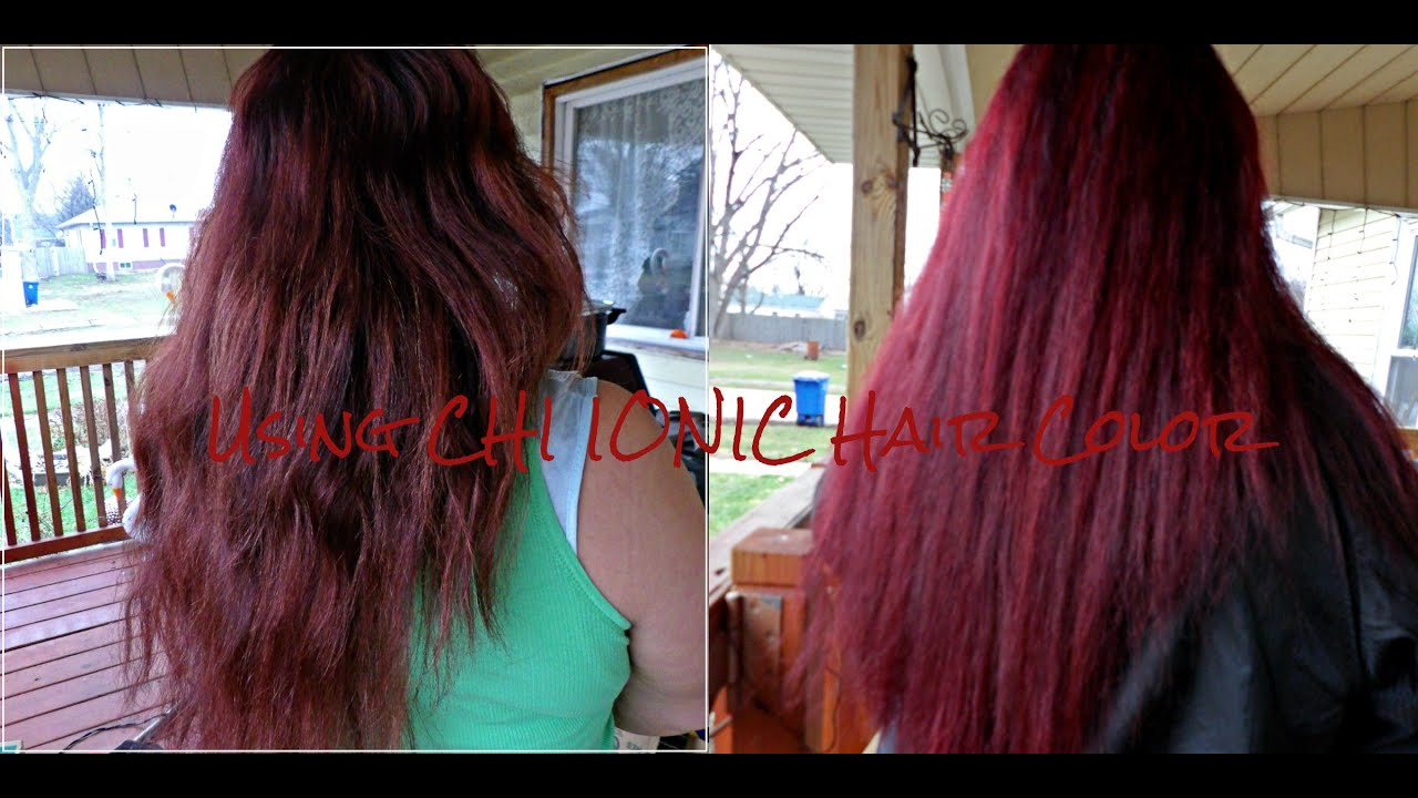 Using CHI IONIC Hair Color for the first time - YouTube