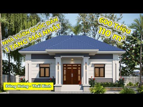 Thiết kế biệt thự vườn 1 tầng 9x12m tại Đông Hưng Thái Bình NDNC4108