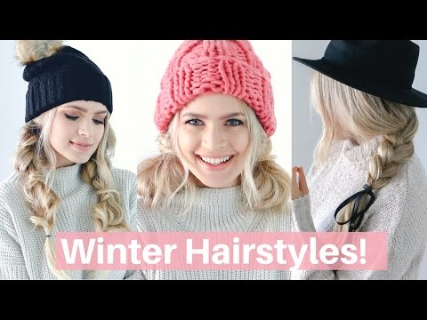 Easy Hairstyles for Winter, Hats, and Scarves! – Hair Tutorial