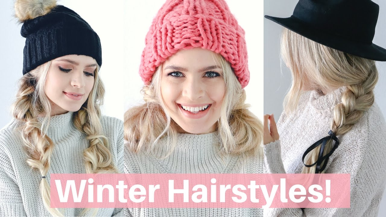 cute hairstyles with beanies