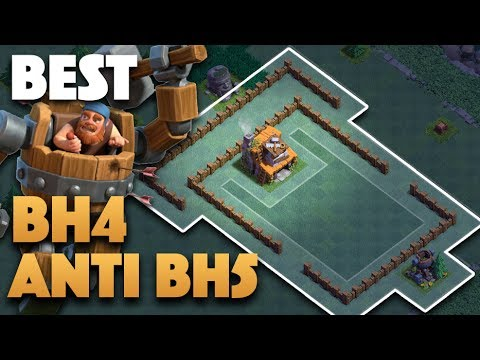 Best Builder Hall 4 (BH4) Base Defense Against Battle Machine BH5 (Tested) | Clash Of Clans