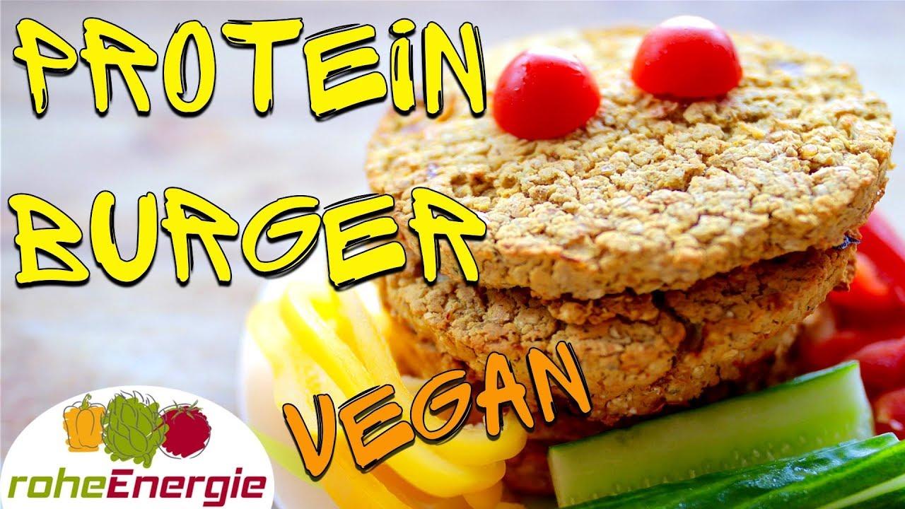 Vegan & Proteinreich. Burger Rezept mit 2 Zutaten