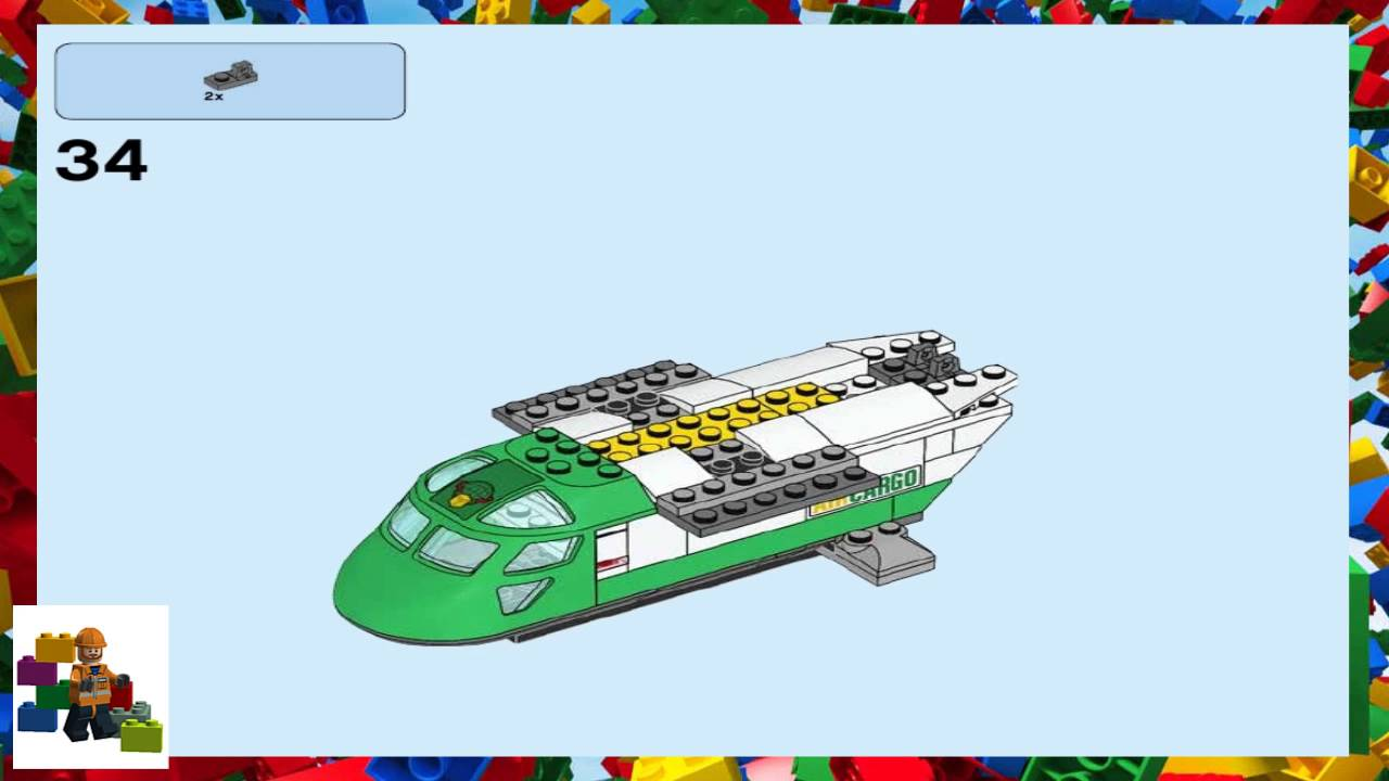 Lego Instructions City Airport 60101 Airport Cargo Plane