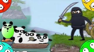 🐾 Четыре панды #7! Японская погоня! Мультик Игра. Новый мультфильм.