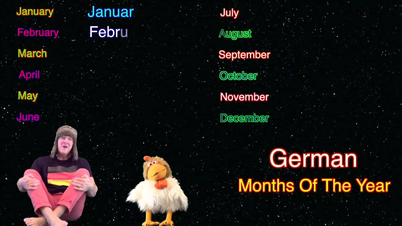how to say months in german