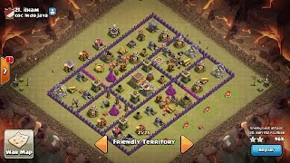 The strongest war base: Base war TH 8 terkuat - November 2016 (replay attack) - tipe 2