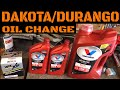 Dodge Dakota And Durango Engine Oil Change Video (2000-2004 Specific)