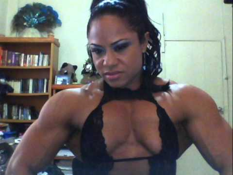 image Amazing female body builder