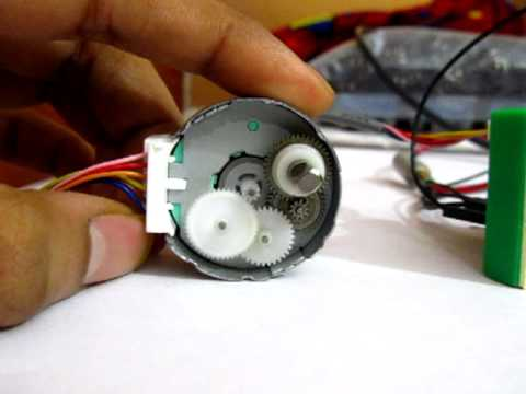 Gears of a small stepper motor youtube for Very small stepper motor